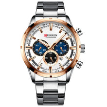 Load image into Gallery viewer, CURREN Men Watch Top Brand Luxury Sports Quartz Mens Watches Full Steel Waterproof Chronograph Wristwatch Men Relogio Masculino
