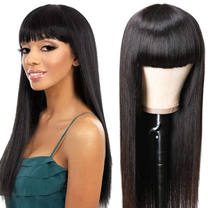 150% Brazilian Virgin Straight Human Hair Wigs