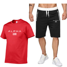 Load image into Gallery viewer, Mens Sportswear Summer Sport Suits 100% Cotton Running Sets