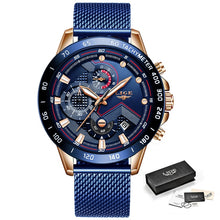 Load image into Gallery viewer, LIGE Fashion New Mens Watches