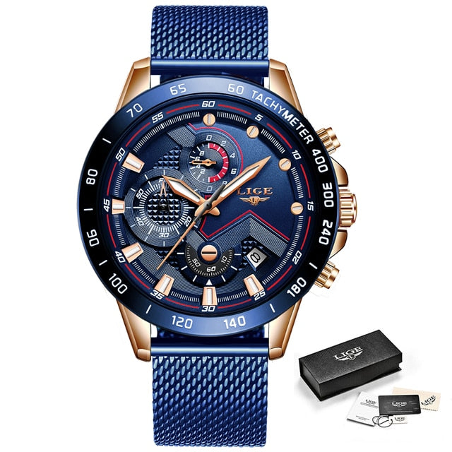 LIGE Fashion New Mens Watches
