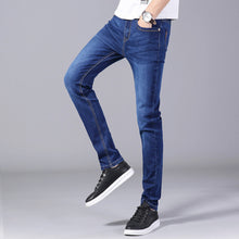 Load image into Gallery viewer, Zipper Fly men's 2020 thick jeans classic simple wash  straight trousers