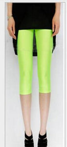 CUHAKCI Plus Size Legging Fluorescent Color Women Leggings Elastic Leggings Spandex Multicolor Shiny Leggins Trousers For Girl