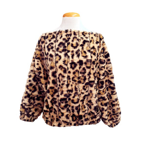 Fluffy Top (Cheetah Print)