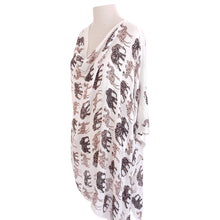Load image into Gallery viewer, Black, White & Brown (Elephant & Camel Print) Poncho - Dammit Janet