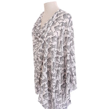 Load image into Gallery viewer, Black & White Leopard Poncho - Dammit Janet