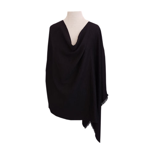 Black Chevron Twill poncho - Dammit Janet