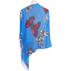 Blue Butterfly Poncho - Dammit Janet