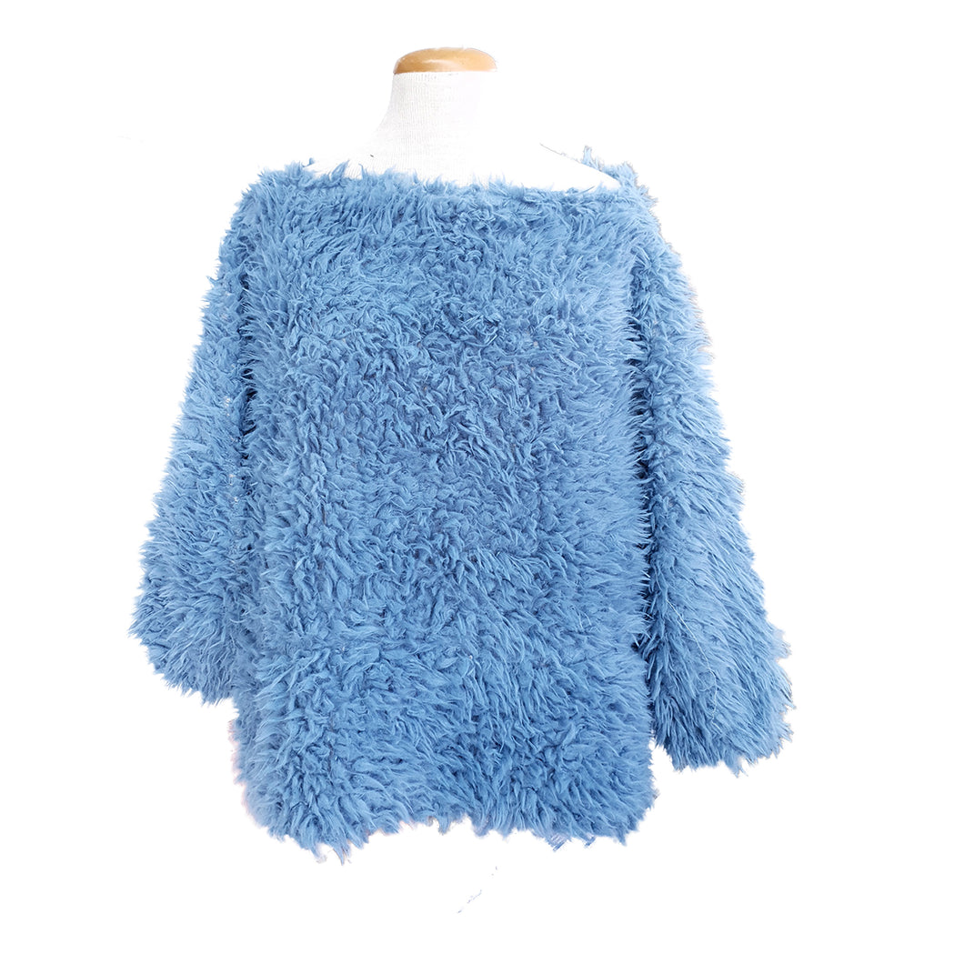 Shaggy Top (Sky Blue)
