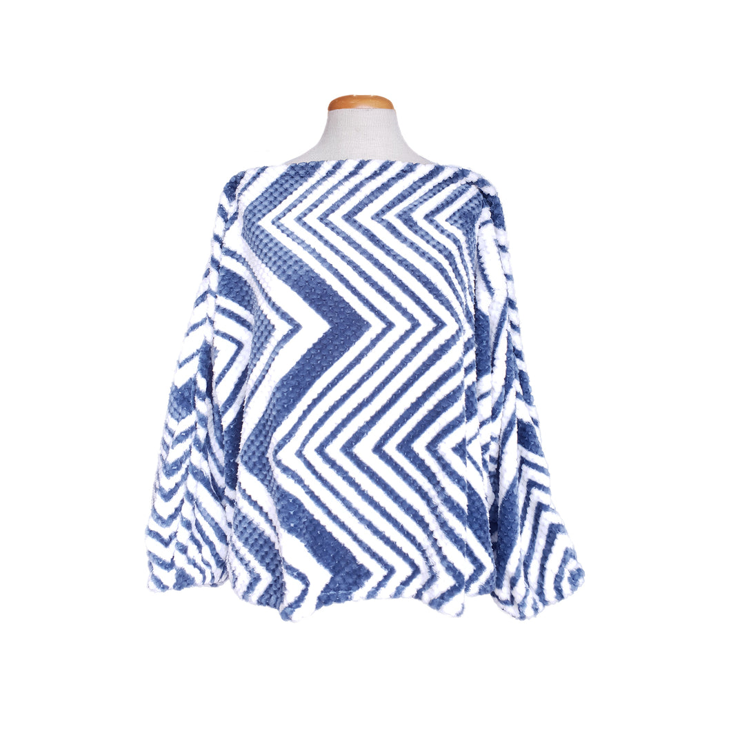 Winter Top (Blue and White Geometric)