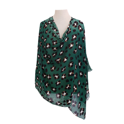 Forest Green Leopard Print poncho - Dammit Janet