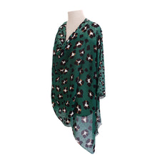 Load image into Gallery viewer, Forest Green Leopard Print poncho - Dammit Janet
