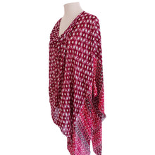 Load image into Gallery viewer, Cherry, White & Cream Geometric Poncho - Dammit Janet