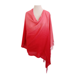 Coral Ombre poncho - Dammit Janet