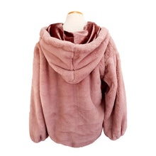 Load image into Gallery viewer, Faux Fur Hoodie (Dusty Pink)