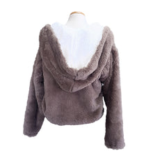 Load image into Gallery viewer, Faux Fur Hoodie (Donkey)
