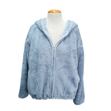 Load image into Gallery viewer, Bomber Hoodie Jacket (Light Blue)