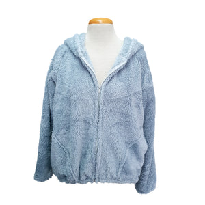 Bomber Hoodie Jacket (Light Blue)