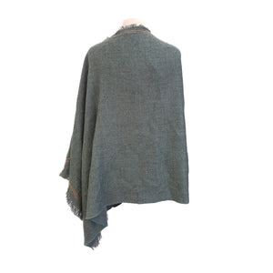 Forest Green with Ginger stitch-edge poncho - Dammit Janet