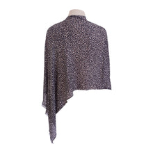 Load image into Gallery viewer, Grey, Black & White Mini-leopard Print Poncho - Dammit Janet