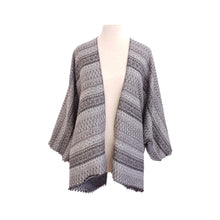 Load image into Gallery viewer, Grey Ethnic Stripe kimono - Dammit Janet