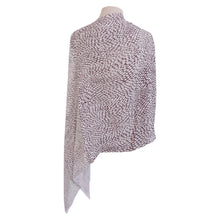 Load image into Gallery viewer, Grey & White Diamond Poncho - Dammit Janet