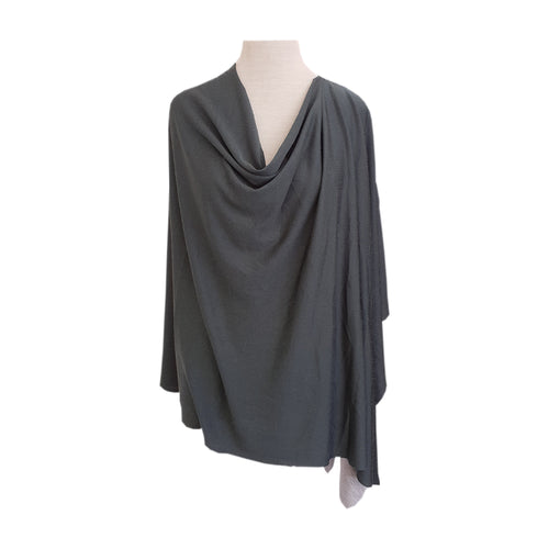 Green-Grey Knit poncho - Dammit Janet