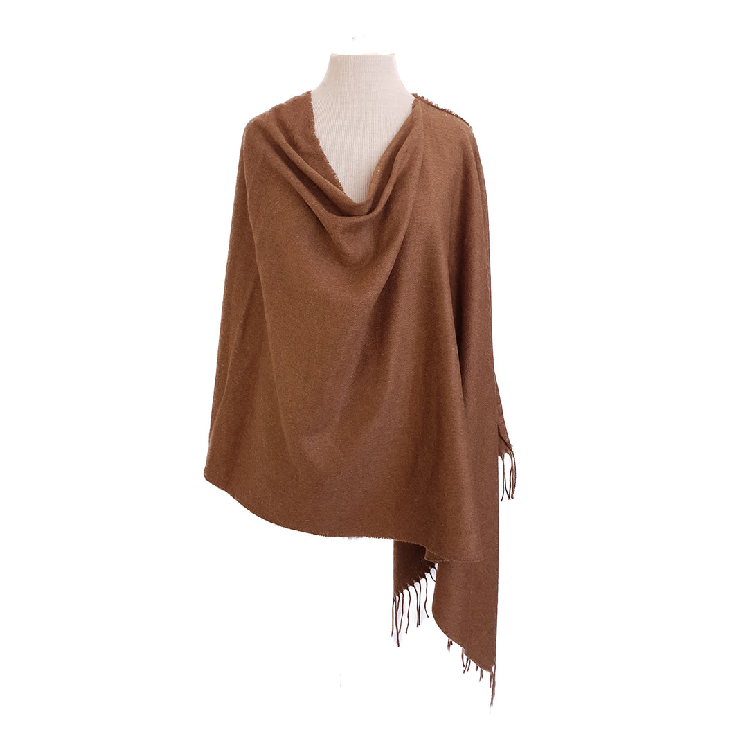 Mud Brown Wool look poncho - Dammit Janet