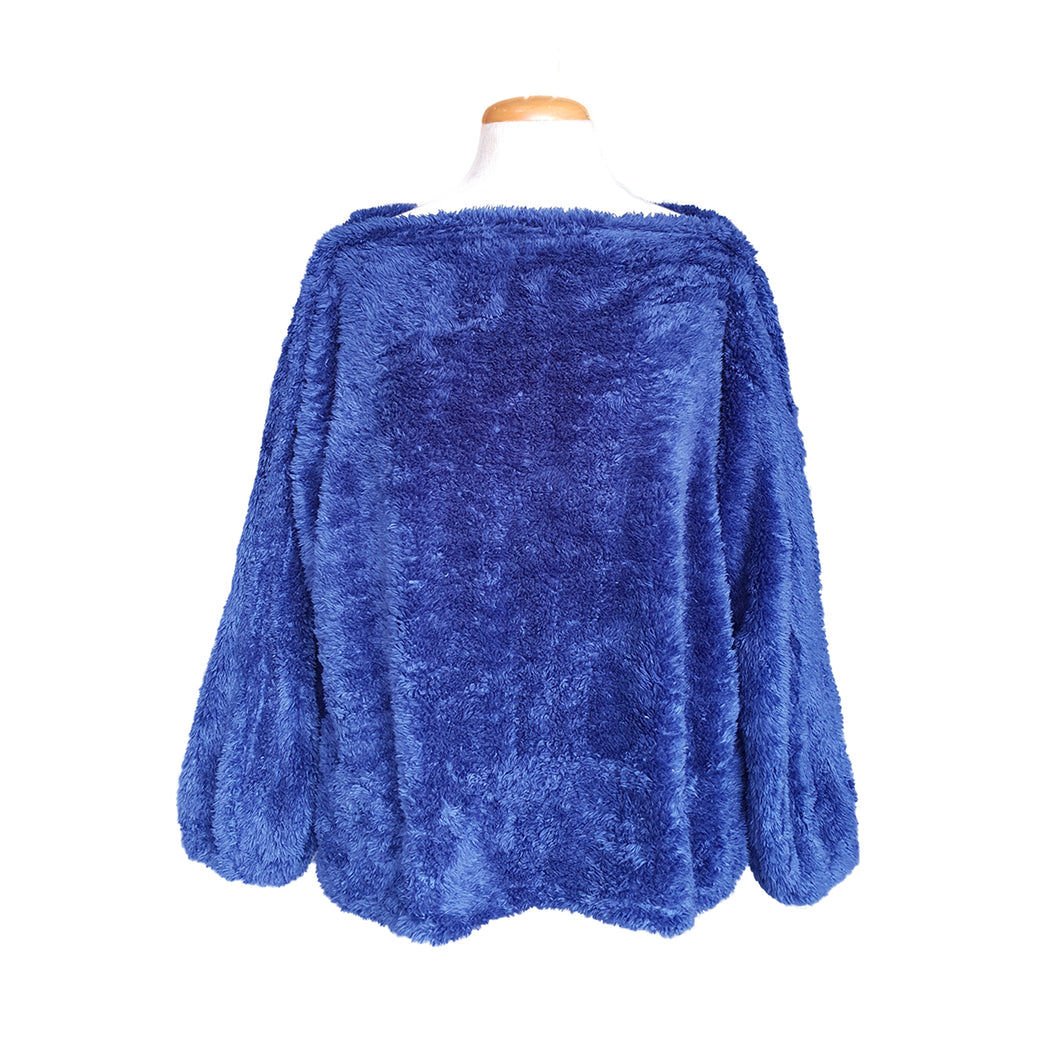 Fluffy Top (Royal Blue)