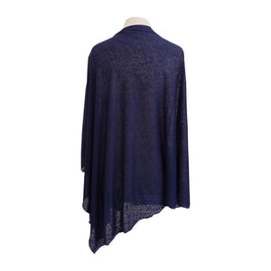 Navy (Thick & Thin) poncho - Dammit Janet