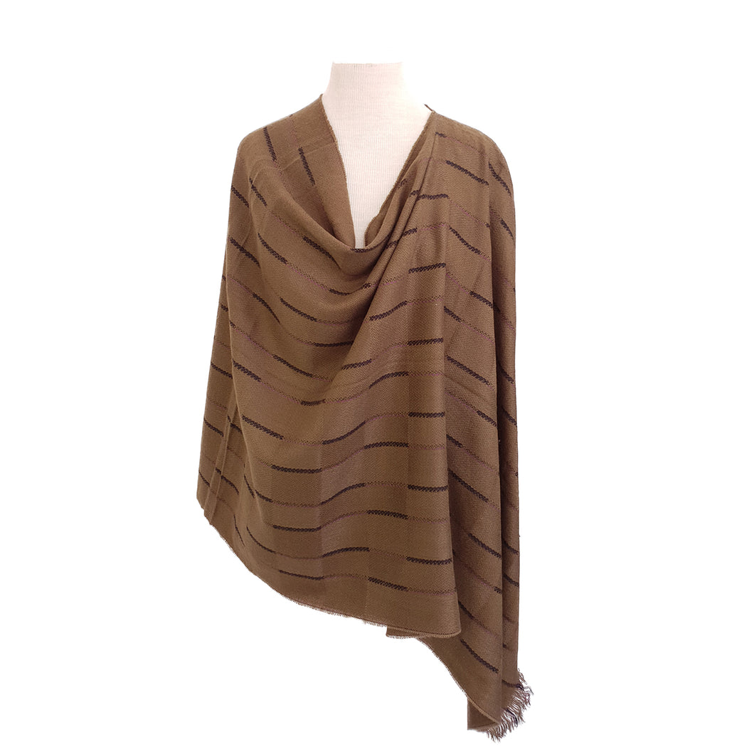 Olive twill with Violet & Black Stripe poncho - Dammit Janet