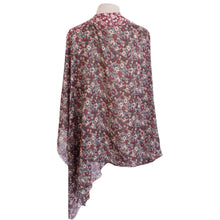 Load image into Gallery viewer, Olive & Burgundy Liberty Floral Poncho - Dammit Janet