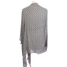 Load image into Gallery viewer, Olive & White Geometric Floral Poncho - Dammit Janet