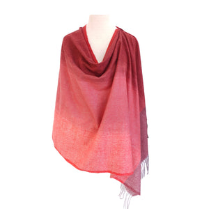 Ombre Coral & Grey Wool look poncho - Dammit Janet
