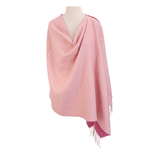 Sugar & Pale Pink Wool look (reversible) poncho - Dammit Janet