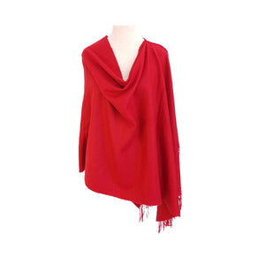 Red Cashmere feel poncho - Dammit Janet