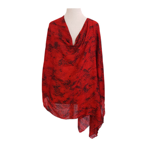 Red & Black Snakeskin poncho - Dammit Janet