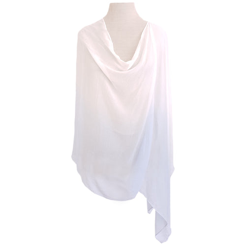 White & Sky Blue Ombre Poncho - Dammit Janet