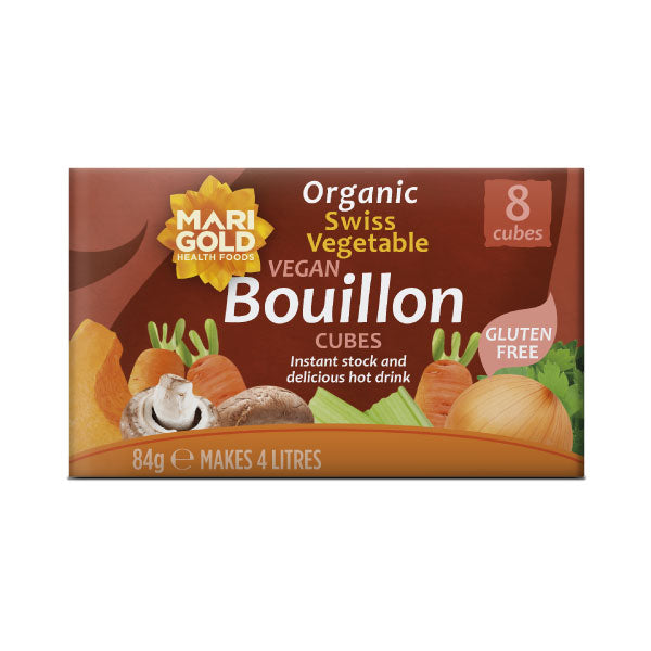 Marigold Organic Swiss Vegetable Vegan Bouillon Cubes - Hatton Hill