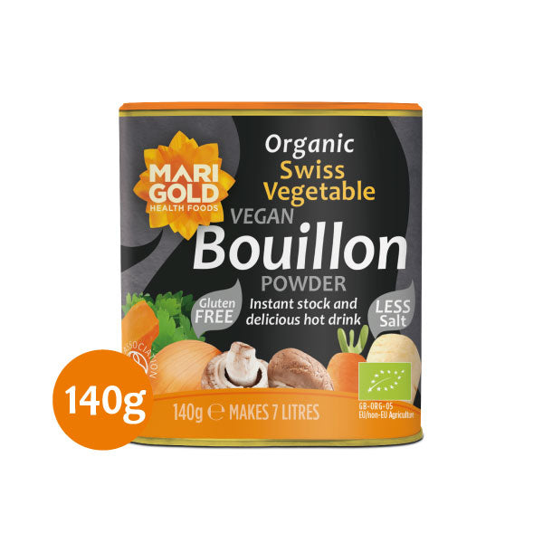 Marigold Organic Swiss Vegetable Vegan Bouillon Powder - Less Salt - Hatton Hill