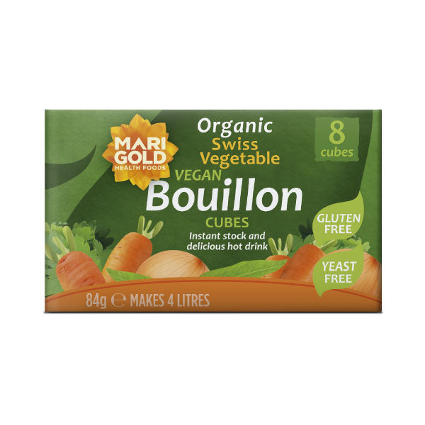 Marigold Organic Swiss Vegetable Vegan Bouillon Cubes - Yeast Free - Hatton Hill