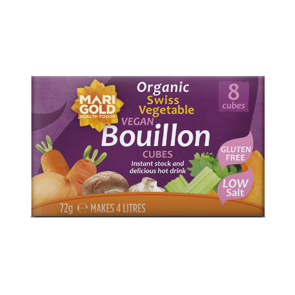 Marigold Organic Swiss Vegetable Vegan Bouillon Cubes - Low Salt - Hatton Hill