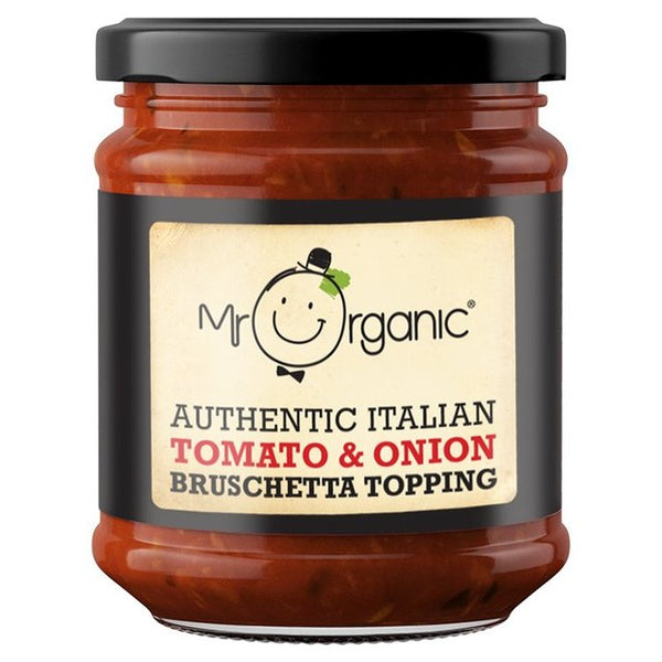 Mr Organic Authentic Italian Tomato & Red Onion Bruschetta Topping (200g)