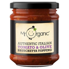 Mr Organic Authentic Italian Tomato & Olive Bruschetta Topping 200g