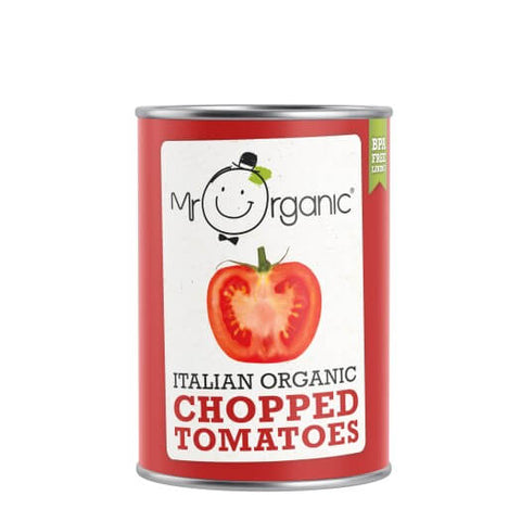 Mr Organic Italian Organic Chopped Tomatoes 400g