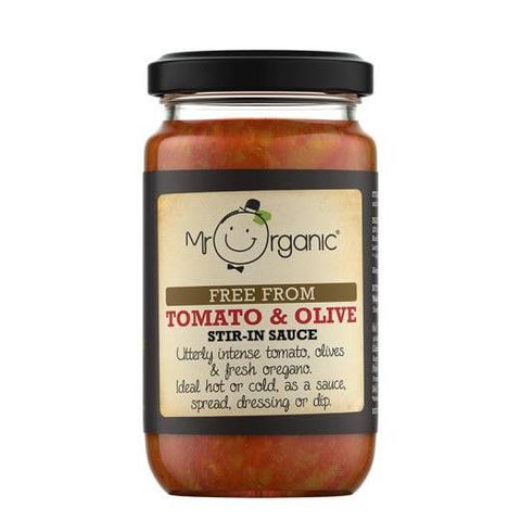 Mr Organic Free From Tomato And Olive Stir-In Sauce 190g