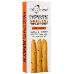 Mr Organic Olive Grissini Breadsticks 130g