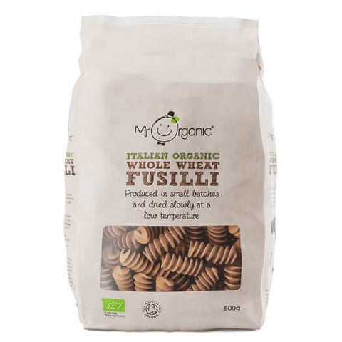 Mr Organic Italian Whole Wheat Fusilli 500g