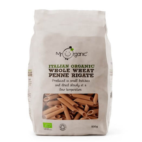 Mr Organic Italian Whole Wheat Penne Rigate 500g