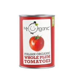 Mr Organic Italian Whole Plum Tomatoes 400g